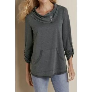 Soft Surroundings Shirt Kassidy Pullover Top Cowl